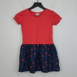 Hanna Andersson Embroidered Strawberry Dress 6-7
